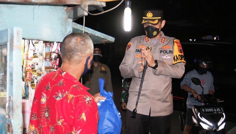 Polres Brebes dan Tim Gabungan Gelar Patroli Skala Besar Pembagian Bansos